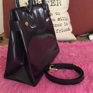 Vintage Gucci purple bag purse with strap